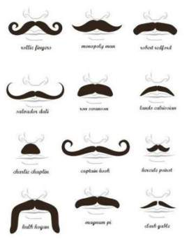 Types of mustaches you can start from when creating your own masculine style