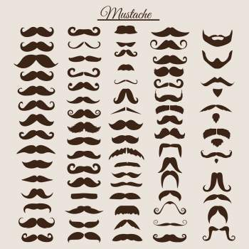 Mustache Styles Shirt, Types Of Mustaches Shirt Otter Grooming Co.