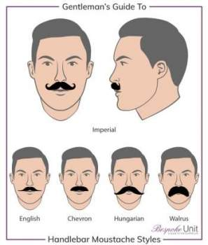 How to style a handlebar moustache