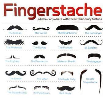 What types of mustaches are there