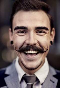 How to grow a thin handlebar moustache