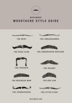 Movember: Our Style Guide, Only The Important Stuff in Fashion