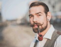 Mustache styles for thin hair