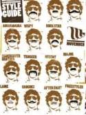 What is a goatee with a mustache called