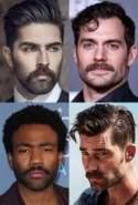Handlebar mustache and goatee