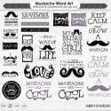 Trendy moustache styles